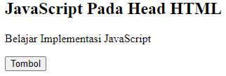 JavaScript In Head HTML